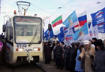 Открытие новой трамвайной линии по проспекту Сююмбике. 15 декабря 2006 г.