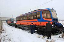 Разгрузка новых трамваев