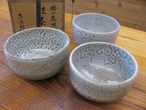 椿の種子釉の抹茶碗