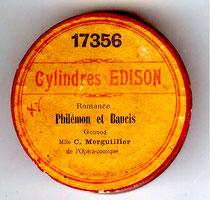 Etiquette de cylindre Edison (coll. de l'auteur)