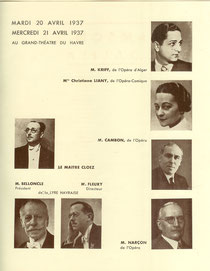 Programme de 1937 (collection de l'Auteur)