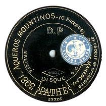Un disque de Manescau (coll. de l'auteur)