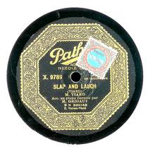 Reproduction d'une étiquette de disque enregistré par Viard (coll. de l'auteur)