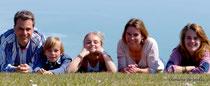 Familie Schewe leitet die Pension und Ferienunterkunft in Gennes