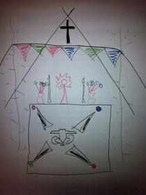 Entwurf des Jugendaltars 2013