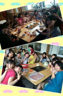 3日目☆先生方を交えての女声のお食事風景