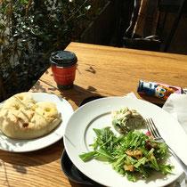 秋刀魚と水菜のサラダ、美味しかった♡