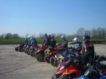 Un groupe uni pour la rando-quad.