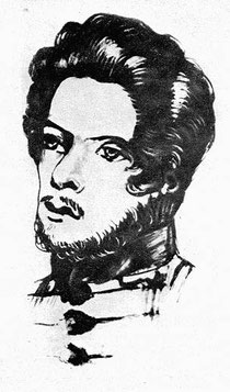 Zeichnung des jungen Marx