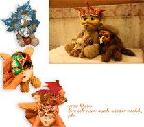 Kasimir, Cäsar und Fredi mit ihren venezianischen Masken
