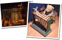 Kasimir, Cäsar und Fredi im Musikinstrumentenmuseum in Ringve