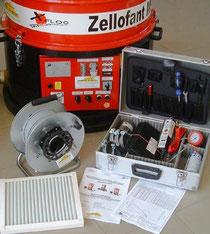 Zubehör Zellofant Einblasmaschine