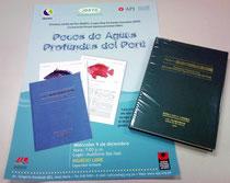 「ペルー海域の深海魚類図鑑」と発行を伝えるペルーのポスター