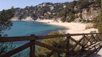 Vista general de la playa de Santa María de Llorell
