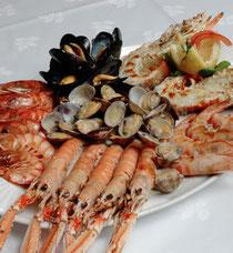 Alquiler de vacaciones en Tossa de Mar - pescados y mariscos en el restaurante Sa Muralla