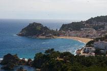 Vista de Tossa de Mar y la Platja Grand