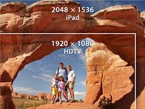 El ipad tiene un millón de pixeles mas que una TV HD
