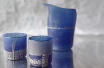 橋村大作 酒器セット ブルー