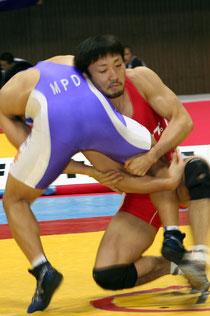 2011天皇杯全日本レスリング選手権大会フリースタイル74㎏級で5連覇を達成した長島和幸選手(クリナップ)