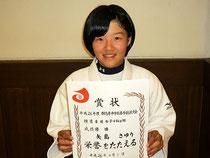 柔道女子44キロ級優勝の矢島さゆり