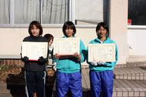 第37回太田市新田新春マラソン大会 一般女子上位入賞者