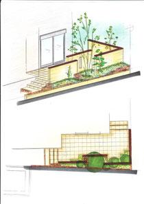 K様邸 テラス計画図