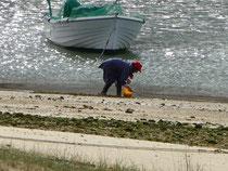 Muschelsammlerin am Fluß Arade