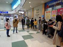 山形駅に集合 初めての参加者も多くいました