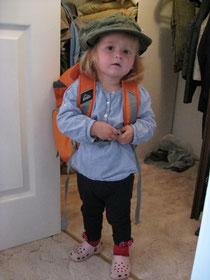 Rucksack gepackt und bereit für die Heimreise.