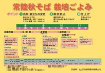常陸秋そば栽培カレンダー