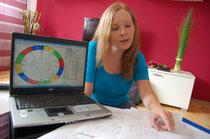 Kerstin Schillo deutet die Planeten. Foto: Eschenauer