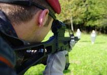 Feldjäger bereiten sich auf den Afghanistan-Einsatz vor.