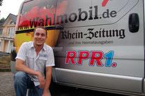 Das Wahlmobil hat Benedikt Mediger in Andernach besucht. Foto: Markus Eschenauer