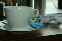 Alles Bio bei Juwi: Sogar die Kaffeesahne.
