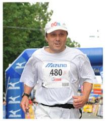 Dietmar Füssel 100 Kilometer von Biel Zieleinlauf