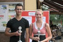 Julia Thomé und Adrian Becker gewannen die U21-Konkurrenzen des Stadtwerke-Cup 2013.