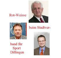 Dietmar Wächter, Bernd Alexander und Bernd Gerard sind ein Team der Rot-Weissen im Stadtverband für Sport