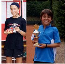 Mara Reiter und Joel Eich vom TC Rot-Weiss Dillingen erreichten in ihren Altersklassen die Finals.