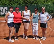 Die neuformierten Damen 40 konnten fast im ersten Spiel den ersten Sieg einfahren
