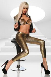Legging Reptil-Look gold