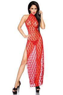 Negligé-Kleid rot