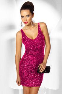 Paillettenkleid Pink