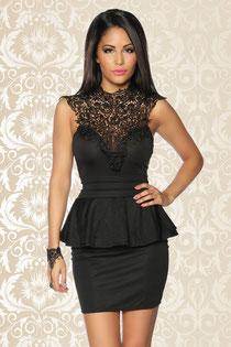 Vintage-Kleid mit Spitze