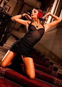 Lace-Halter-Kleid