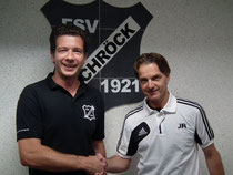 Der Sportliche Leiter Christian Heintze mit dem neuen Coach der 2. Mannschaft Jörg Riechel