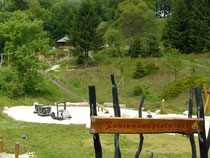 Überblick über den Robinsonspielplatz im Harz