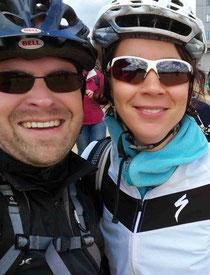 Mountainbiker auf dem Brocken im Harz