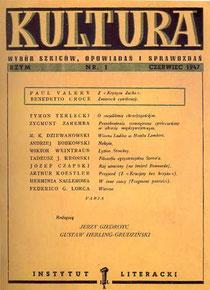 Kultura, Nr 1, Rzym  czerwiec 1947