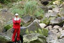 西表島の山の岩場にて撮影