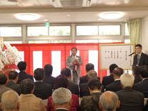 大久保寿夫市長(中央)よりご挨拶を頂きました。